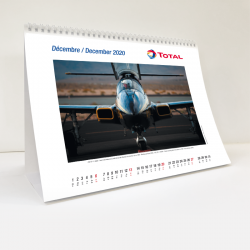 Calendrier Total Aviation 2020 - Chevalet